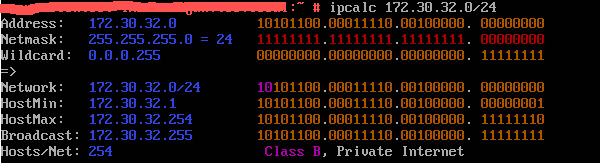 ipcalc (with bin. and colors)